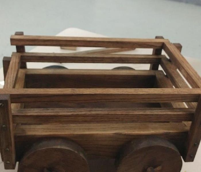 Wooden Wheeled Cart Restored After Devastating Fire After
