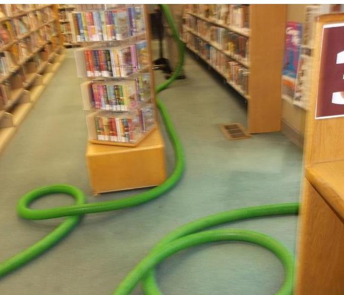 City Library Floods After Heavy Rain